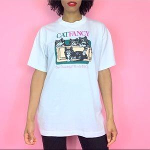 1980's Vintage Cat Fancy Graphic Promo T-Shirt